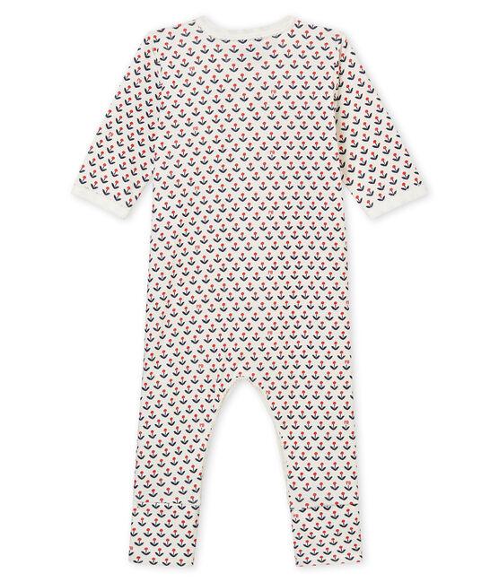 Wendbarer Baby MädchenStrampler mit Fuß weiss Marshmallow / weiss Multico