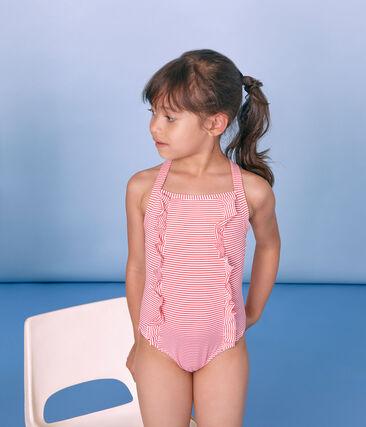 1-teiliger Kinder-Badeanzug Mädchen rosa Petal / blau Crystal