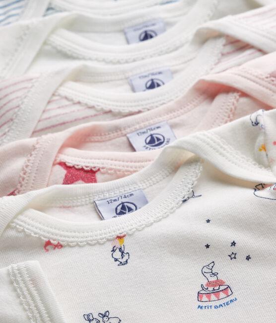 5er-Set langärmlige Baby-Bodys für Mädchen lot .