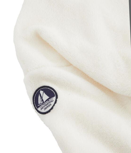 Sweatshirt aus Fleece in Schaffelloptik für Jungen weiss Marshmallow