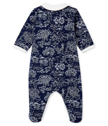 Baby MädchenStrampler blau Smoking / weiss Ecume