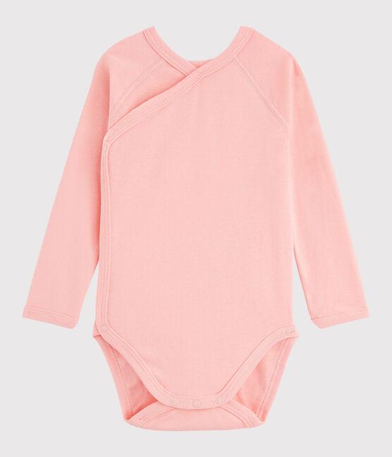 Langärmeliger Baby-Body in Wickelform Mädchen rosa Rosako