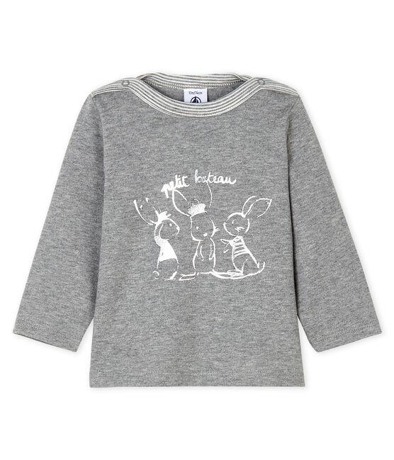 Langärmeliges Baby-T-Shirt für Jungen grau Subway