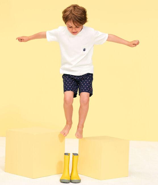 Bedruckte Strandshorts Kinder Jungen blau Submarine / weiss Multico
