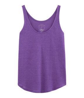 Leinen-Tanktop für Damen violett Real
