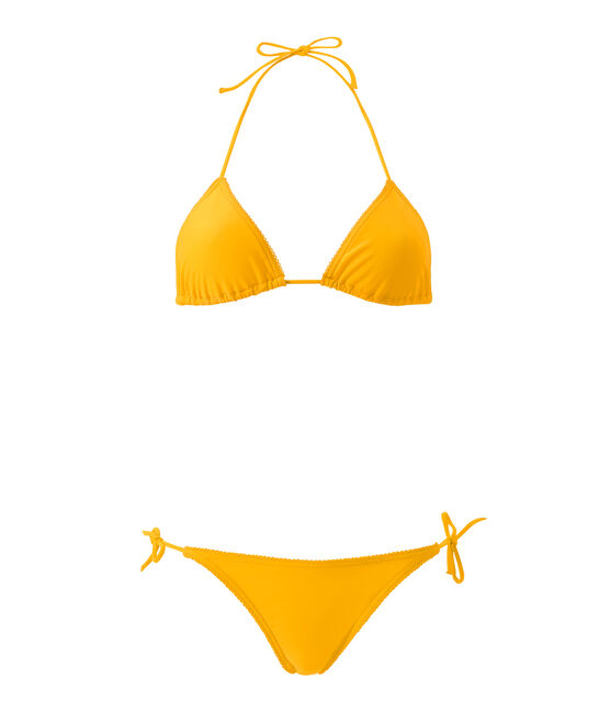 Einfarbiger Damen Bikini orange Fusion