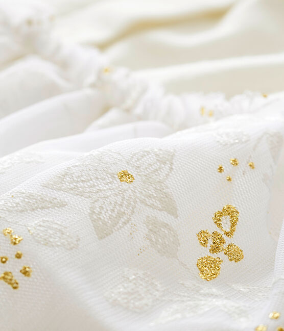 Baby MädchenKleid aus Tüll weiss Marshmallow / weiss Multico
