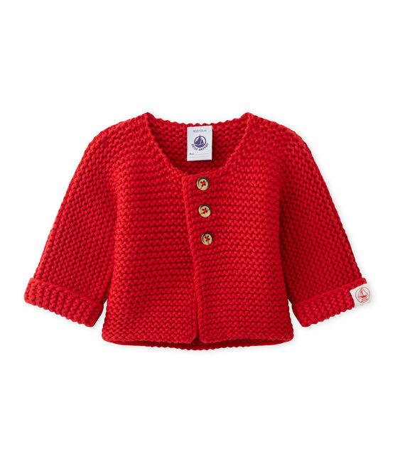 Unisex-Baby-Cardigan aus Wolle/Baumwolle rot Froufrou