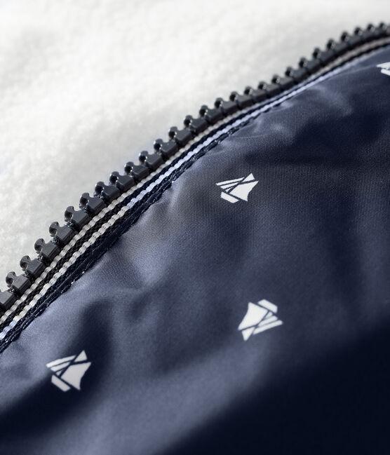 Baby-Blouson, Unisex, mit Fleecefutter blau Smoking / weiss Marshmallow
