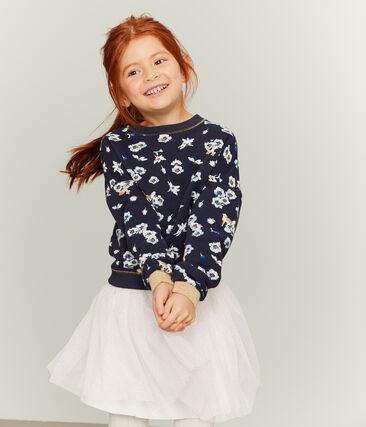 Kinder-Sweatshirt Mädchen blau Smoking / weiss Multico