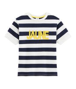 Kinder-T-Shirt für Jungen blau Smoking / weiss Marshmallow