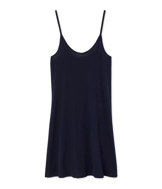 Chemise à bretelles femme en coton léger blau Smoking