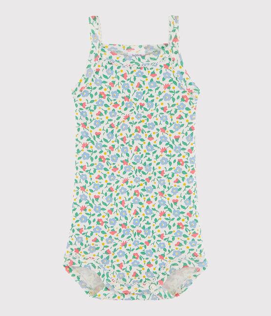 Baby-Trägerbody Mädchen weiss Marshmallow / weiss Multico