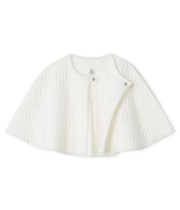 Baby-Cape aus gestepptem Doppeljersey weiss Marshmallow