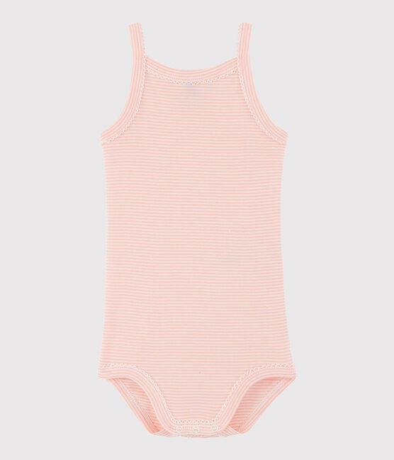 Baby-Trägerbody Mädchen rosa Rosako / weiss Marshmallow