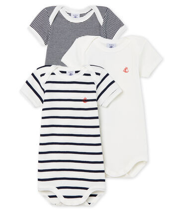 Trio kurzärmelige Baby-Bodys Unisex