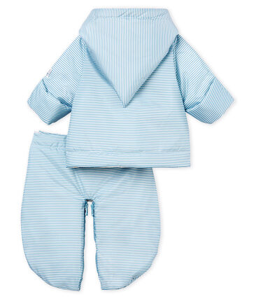 3-in-1-Fliegerorverall unisex blau Fontaine / weiss Marshmallow