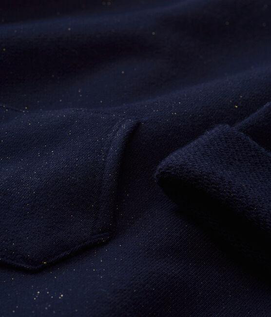 Glitzerndes Baby MädchenKleid aus Molton blau Smoking / gelb Dore
