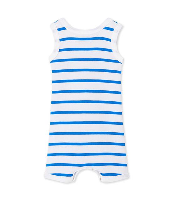 Combicourt bébé garçon rayé weiss Ecume / blau Delphinium