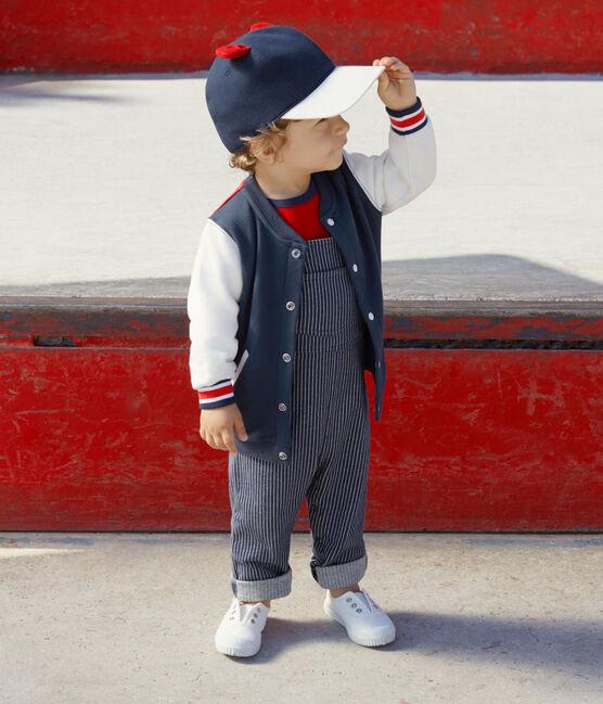 Baby-cardigan aus molton jungen blau Haddock / weiss Multico
