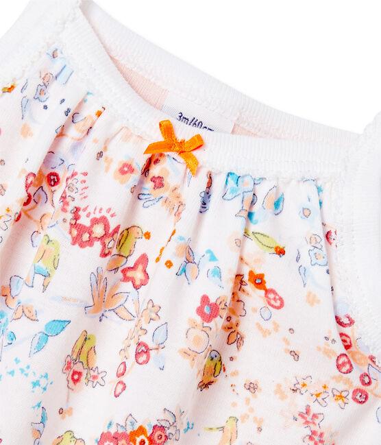 Body robe bébé fille à bretelles weiss Ecume / rosa Cupcake