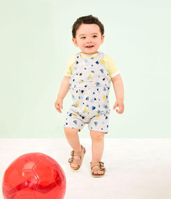 Kurzärmeliges Baby-T-Shirt für Jungen gelb Sunny