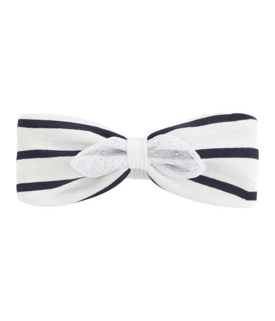 Baby-Haarband für Mädchen weiss Marshmallow / weiss Multico