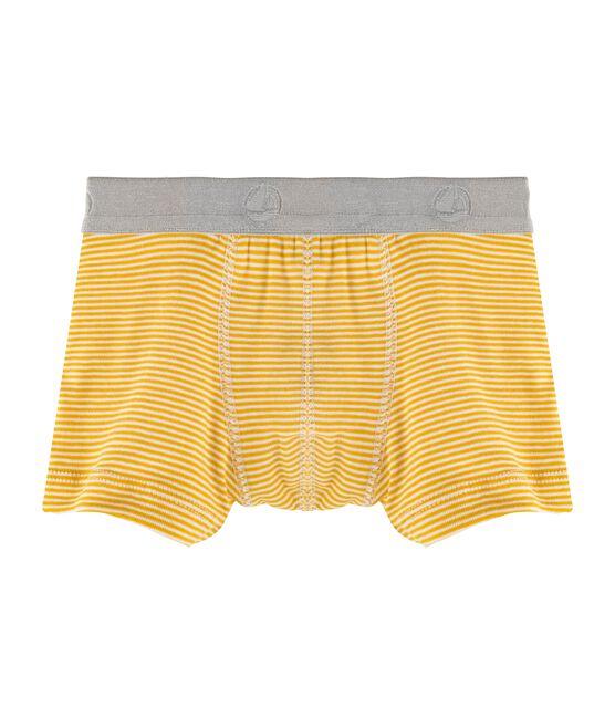 Boxershorts für kleine Jungen gelb Sahara / weiss Marshmallow