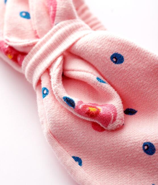 Baby-Haarband mit Schleife für Mädchen rosa Minois / weiss Multico