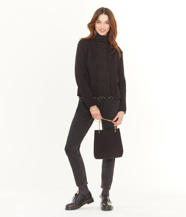 Handtasche für Damen schwarz Noir / gelb Or