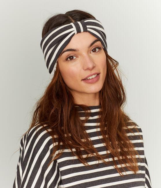 Warmes Kopfband für Damen schwarz City / beige Coquille