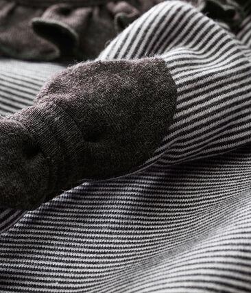Gestreiftes Baby MädchenKleid mit Haarband