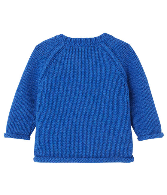 Baby-Jungen-Pullover mit Jacquard-Motiv blau Limoges