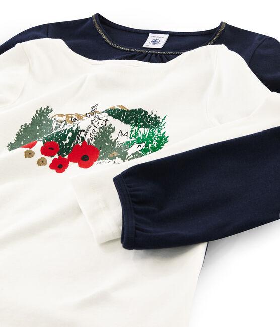 Set mit zwei T-Shirts für Mädchen lot .