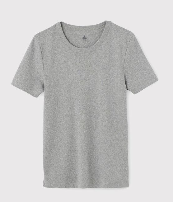 Kurzärmliges Herren-T-Shirt grau Subway