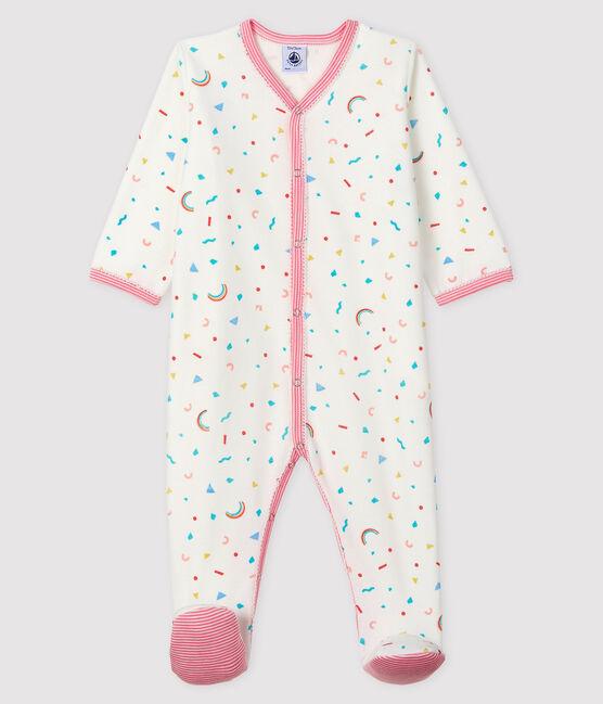 Baby-Strampler aus Samt mit Konfetti-Druck für Mädchen weiss Marshmallow / weiss Multico