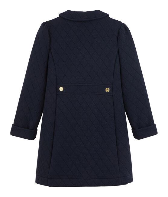 Mantel aus Doppeljersey für Mädchen blau Smoking