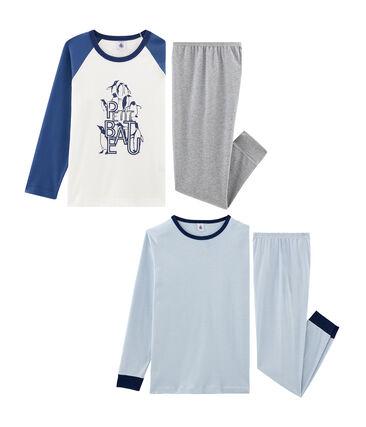 2er-Set Rippstrick-Pyjamas für Jungen