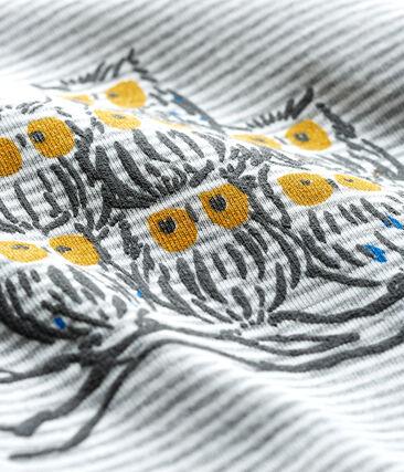 Langärmeliges Baby-T-Shirt für Jungen mit Milleraies-Ringelmuster