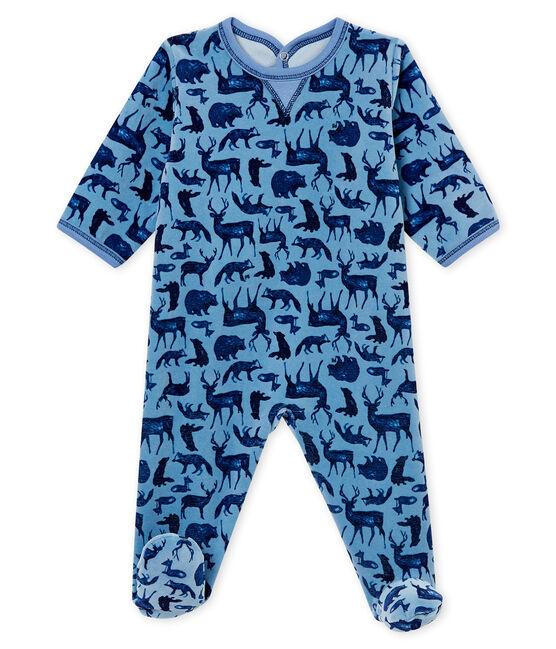 Baby Jungen Strampler blau Alaska / weiss Multico
