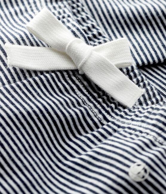 Baby-Hose mit Milleraies-Streifen für Mädchen blau Smoking / weiss Marshmallow