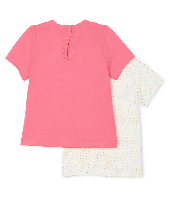 Set aus 2 Baby-T-Shirts für Mädchen lot .