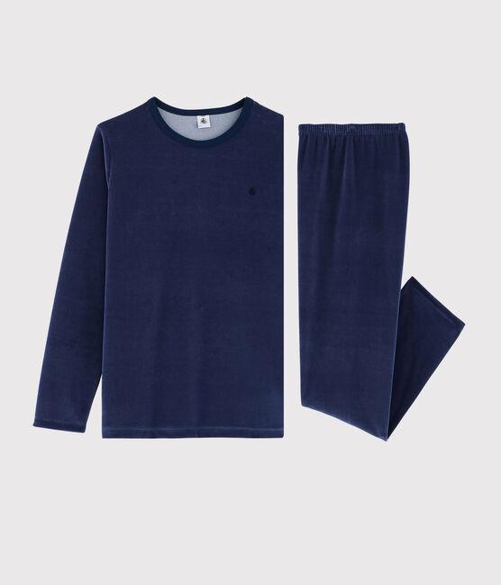 Samt-Pyjama im Marinelook für Jungen MEDIEVAL