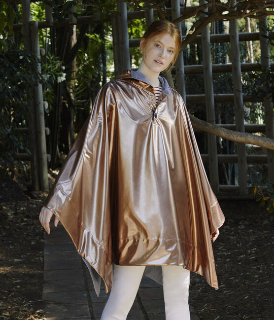 Wende-regencape damen rosa Copper