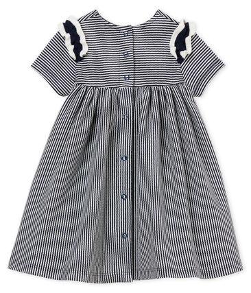 Kurzarm-baby-kleid mit ringelstreifenmuster mädchen