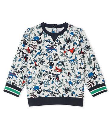 Baby-Sweatshirt aus gestepptem Doppeljersey für Jungen grau Beluga / weiss Multico