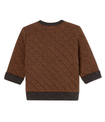 Baby-Sweatshirt aus Doppeljersey in Hahnentrittmuster für Jungen