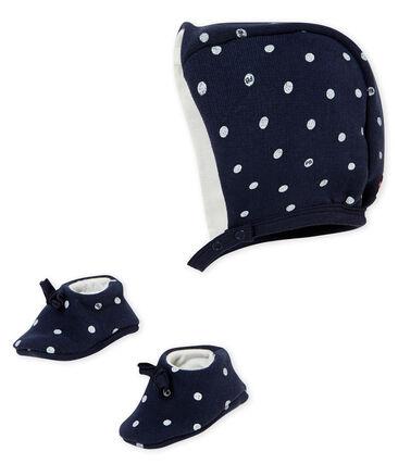 Set aus Baby MädchenHaube und Schuhen