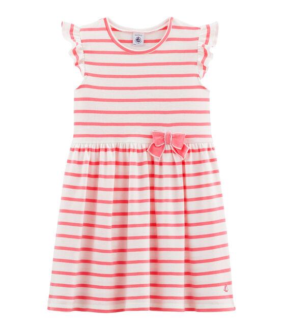 Kinder-Kleid für Mädchen weiss Marshmallow / rosa Cupcake