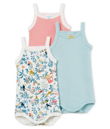 3er-Set Baby-Trägerbodys für Mädchen